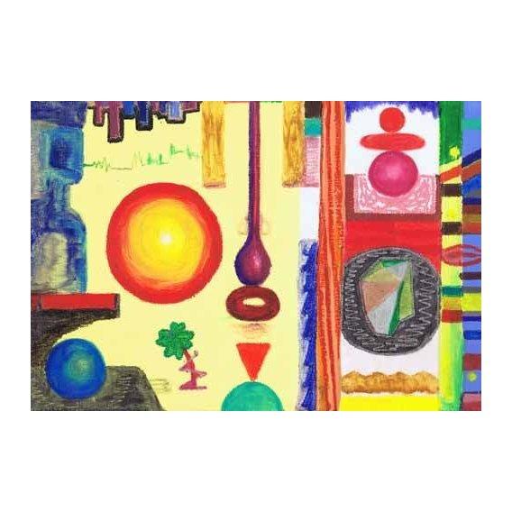 cuadros etnicos y oriente - Cuadro -Abstracto _ Diurnal, 2002-