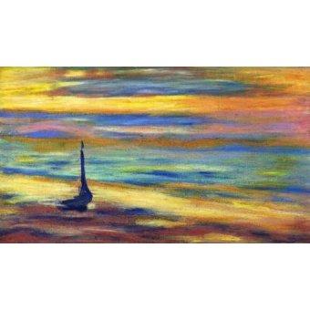 cuadros de marinas - Cuadro -La Playa- - Molsan, E.
