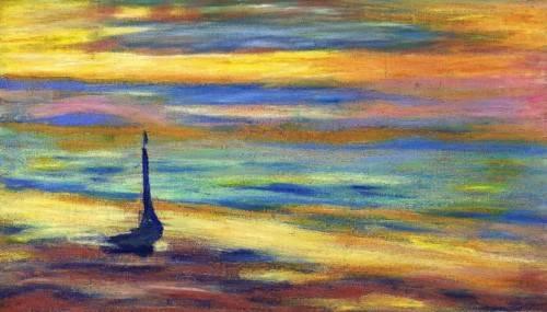 cuadros-modernos - Cuadro -La Playa- - Molsan, E.
