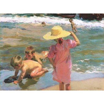 cuadros de marinas - Cuadro -Los Jovenes Anfibios, 1903- - Sorolla, Joaquin