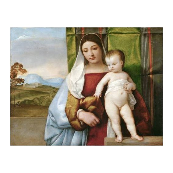 cuadros religiosos - Cuadro -Arbol Amarillo, La Granja, 1906-