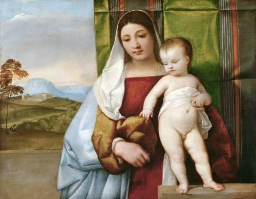 cuadros-religiosos - Cuadro -Virgen Gitana- - Tiziano, Tiziano Vecellio