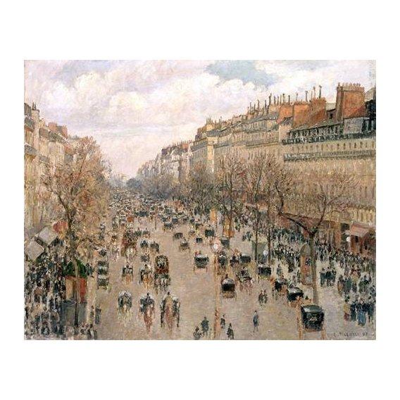 cuadros de paisajes - Cuadro -Boulevard_Montmartre, 1897-