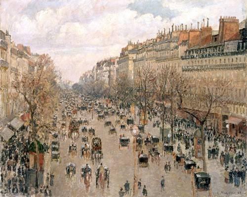 cuadros-de-paisajes - Cuadro -Boulevard_Montmartre, 1897- - Pissarro, Camille
