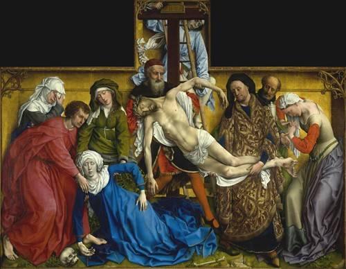 cuadros-religiosos - Cuadro -El Descendimiento- - Van der Weiden, Rogier