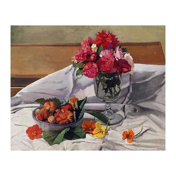 cuadros decorativos - Cuadro -Flores y fresas-