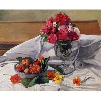 - Cuadro -Flores y fresas- - Valloton, Felix