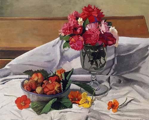 cuadros-decorativos - Cuadro -Flores y fresas- - Valloton, Felix