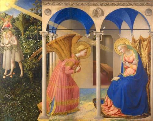 cuadros-religiosos - Cuadro -La Anunciación- - Fra Angelico, G. Da Fisole