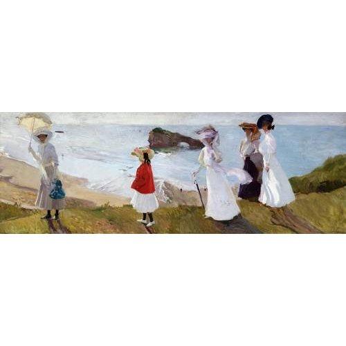cuadros de marinas - Cuadro -Paseo del faro, Biarritz, 1906-