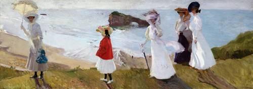 cuadros-de-marinas - Cuadro -Paseo del faro, Biarritz, 1906- - Sorolla, Joaquin