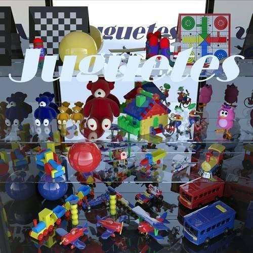 cuadros modernos - Cuadro -La tienda de juguetes-