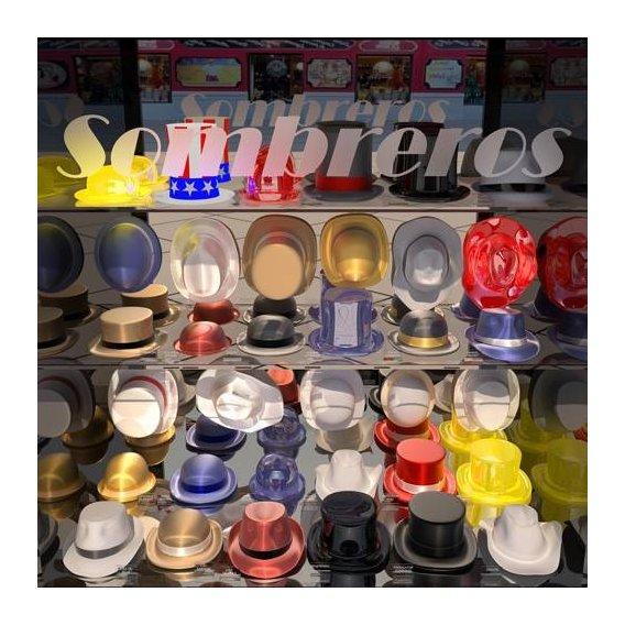cuadros modernos - Cuadro -La tienda de sombreros-