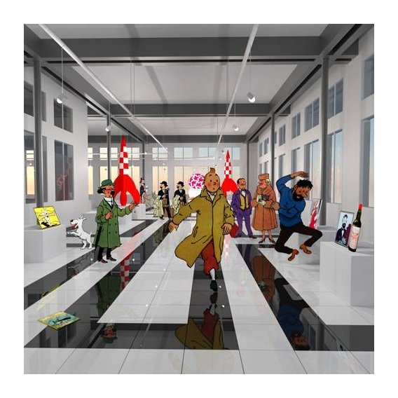 cuadros modernos - Cuadro -Noche en el museo de tintin-