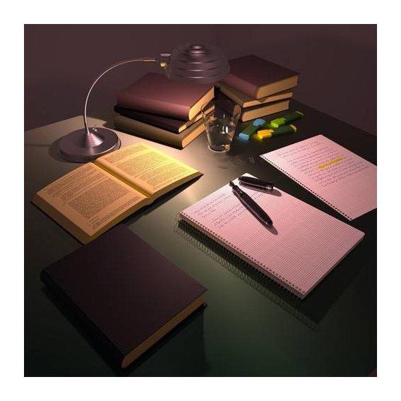 cuadros modernos - Cuadro -Escritorio de Julio-