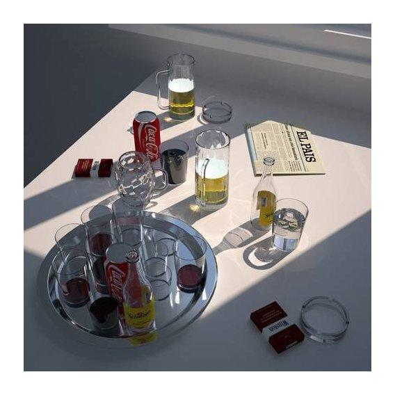 cuadros modernos - Cuadro -Mesa de cafe-