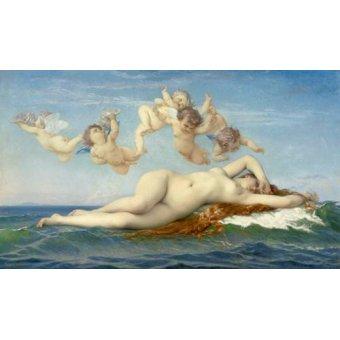 cuadros de desnudos - Cuadro -El Nacimiento de Venus- - Cabanel, Alexander