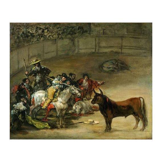 cuadros de fauna - Cuadro -Corrida de toros, Suerte de Varas (toros)-