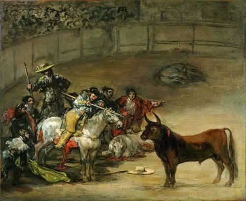 cuadros-de-fauna - Cuadro -Corrida de toros, Suerte de Varas (toros)- - Goya y Lucientes, Francisco de