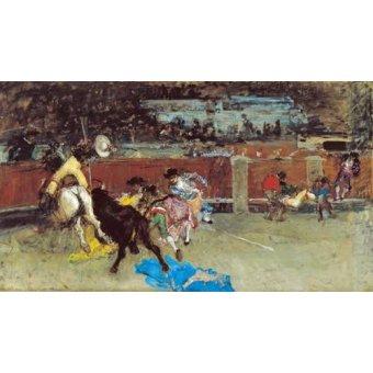 cuadros de fauna - Cuadro -Corrida de toros- - Fortuny y Marsal, Mariano