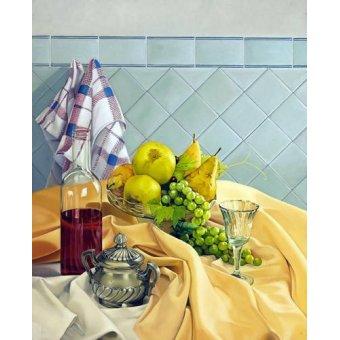 cuadros de bodegones - Cuadro -Bodegon con frutas- - Zamarbide, Federico Garcia