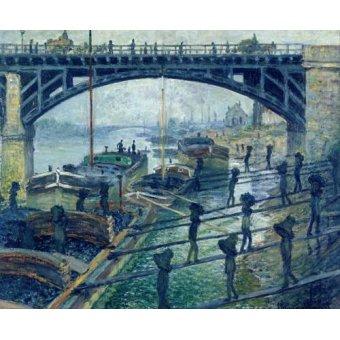 Cuadro -The Coalmen- - Monet, Claude