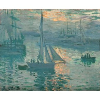 cuadros de marinas - Cuadro -Sunrise (Marina)- - Monet, Claude