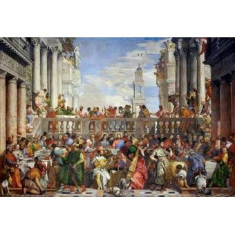 cuadros religiosos - Cuadro -Las Bodas de Caná, 1563- - Veronese, Paolo