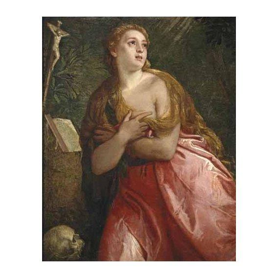 cuadros religiosos - Cuadro -Maria Magdalena penitente-