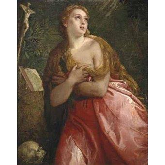 cuadros religiosos - Cuadro -Maria Magdalena penitente- - Veronese, Paolo