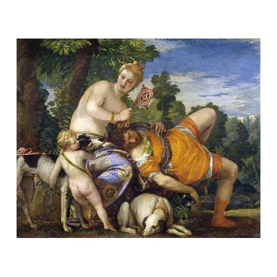cuadros de retrato - Cuadro -Venus y Adonis-
