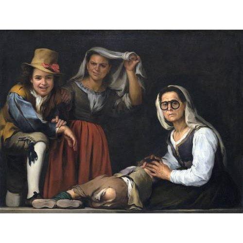 cuadros de retrato - Cuadro -Cuatro figuras en un escalon, 1655-