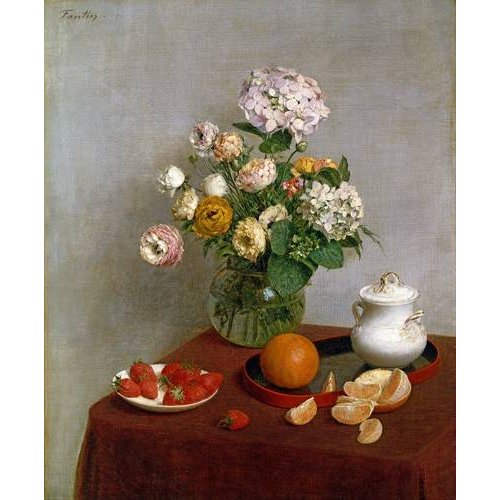 Cuadro -Flowers_and_Fruit, 1866-
