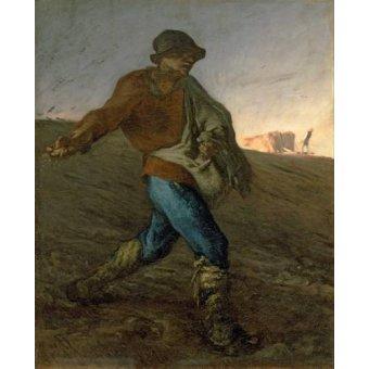 cuadros de retrato - Cuadro -El Sembrador- - Millet, Jean François