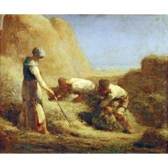 cuadros de retrato - Cuadro -Les Batteleurs, 1850- - Millet, Jean François