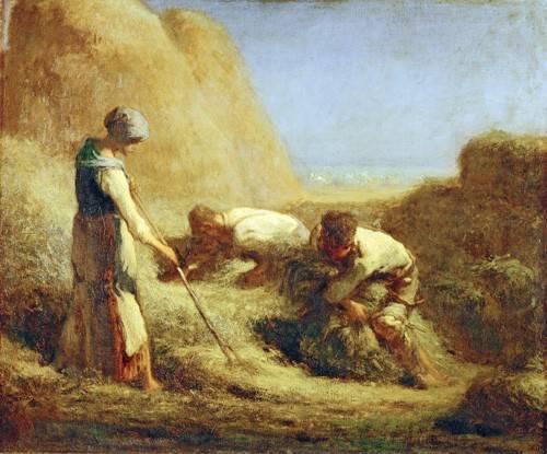 cuadros-de-retrato - Cuadro -Les Batteleurs, 1850- - Millet, Jean François