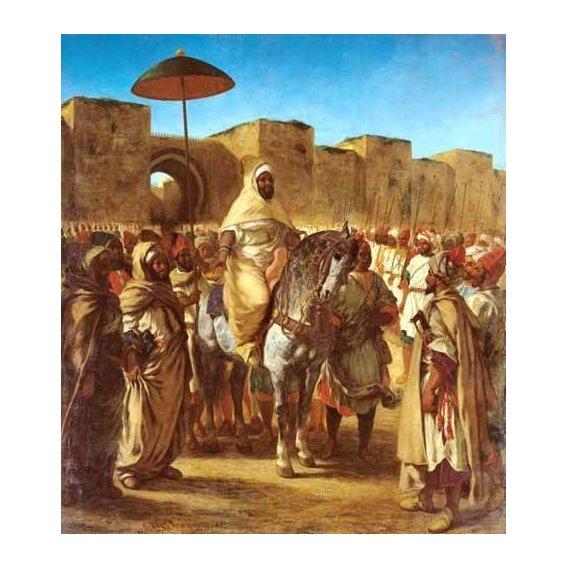 cuadros de retrato - Cuadro -The Sultan Of Morocco-