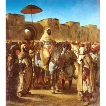 - Cuadro -The Sultan Of Morocco- - Delacroix, Eugene