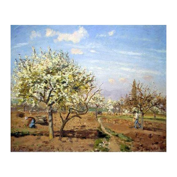 cuadros de paisajes - Cuadro -Huerto en Flor (Louveciennes), 1872-