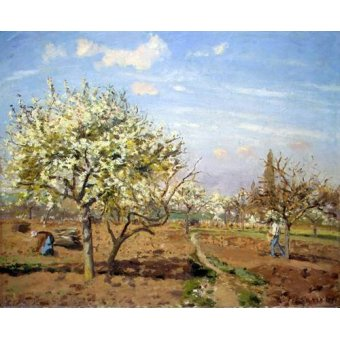 Cuadro -Huerto en Flor (Louveciennes), 1872-
