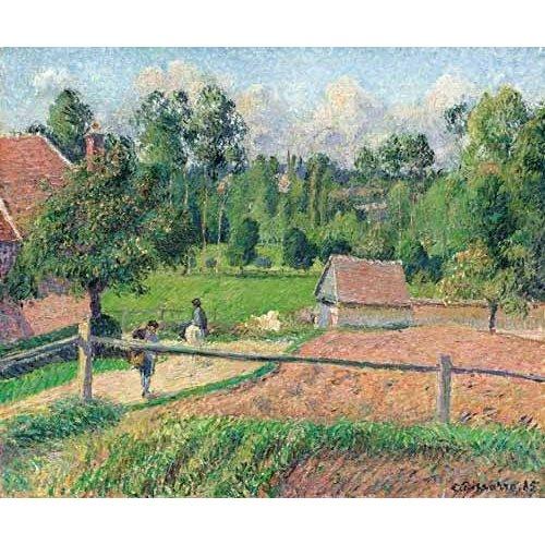 cuadros de paisajes - Cuadro -Vue de la fenêtre de l'artiste (Eragny)-