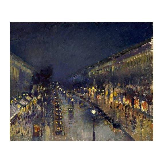 cuadros de paisajes - Cuadro -The Boulevard Montmartre at Night, 1897-