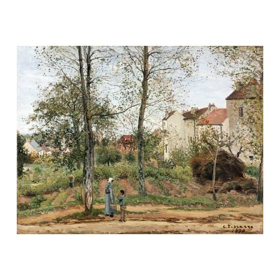 cuadros de paisajes - Cuadro -Houses at Bougival (Autumn)-