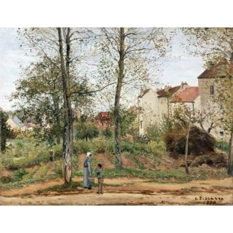- Cuadro -Houses at Bougival (Autumn)- - Pissarro, Camille