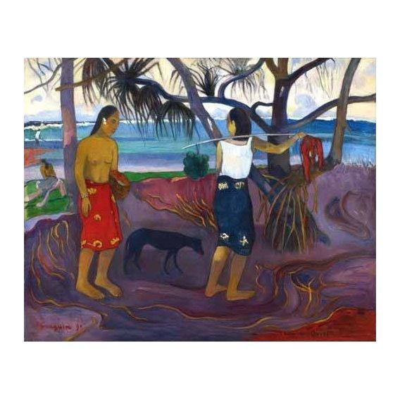 cuadros de paisajes - Cuadro -I Raro Te Oviri (Under the Pandanus)-