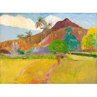 - Cuadro -Tahitian_Landscape- - Gauguin, Paul