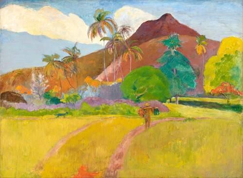 cuadros-de-paisajes - Cuadro -Tahitian_Landscape- - Gauguin, Paul
