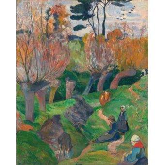 - Cuadro -Paisaje en Bretaña- - Gauguin, Paul