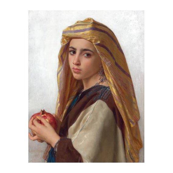 cuadros de retrato - Cuadro -Girl with a pomegranate-