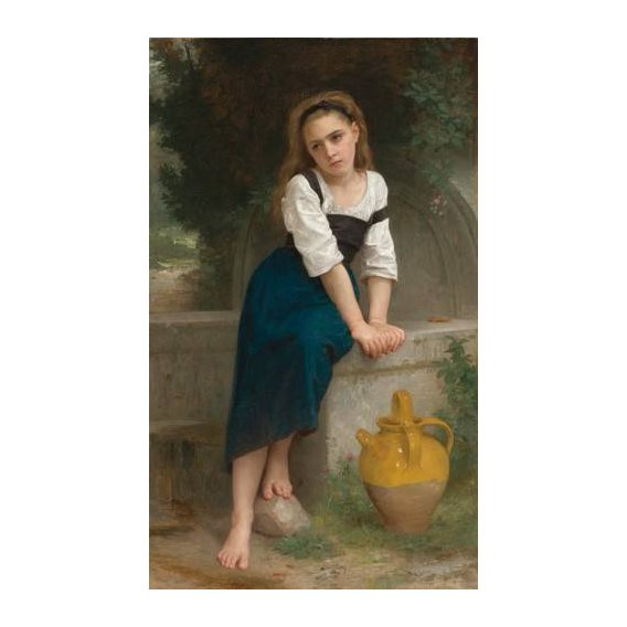 cuadros de retrato - Cuadro -Orphan by the Fountain, 1883-